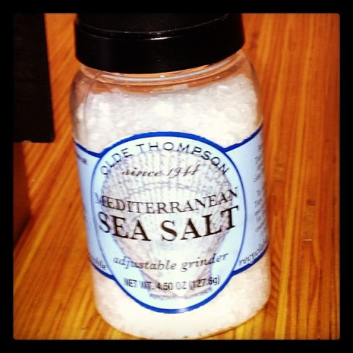 Sea salt, from the Mediterranean, baby! @lexitv #thingsblackfolkssayatfunwrals  (Taken with Instagram)