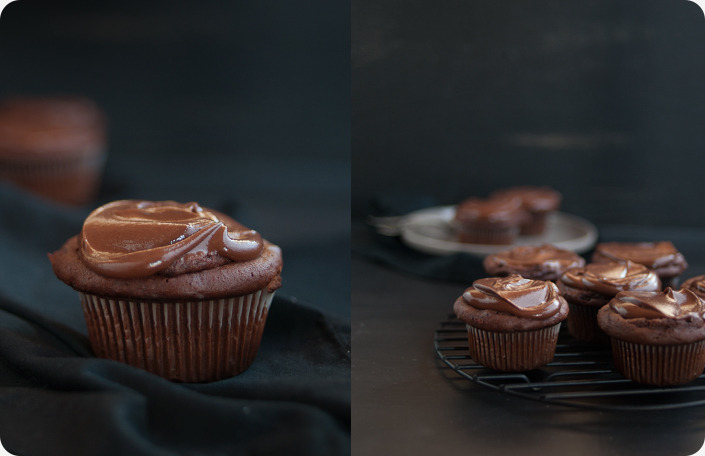 Brownie Batter Cupcakes. YUM.