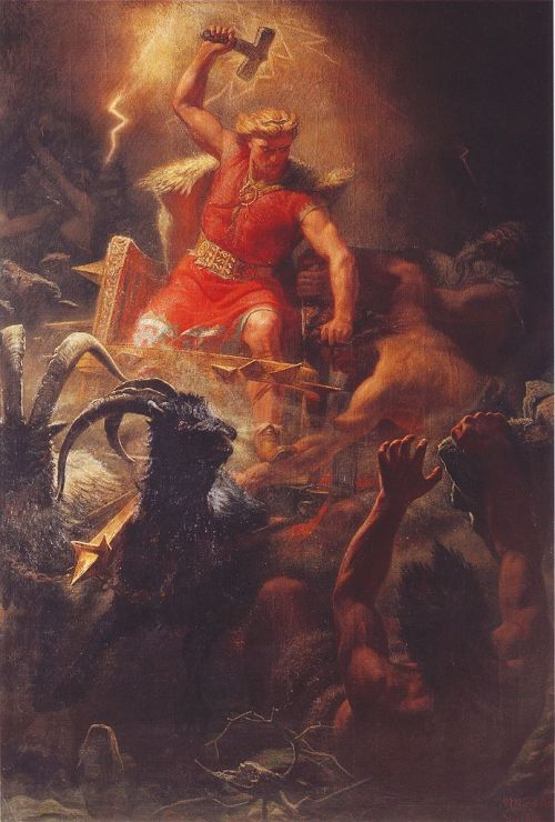 Thor's Battle Against the Jotnar, by Marten Eskil Winge
