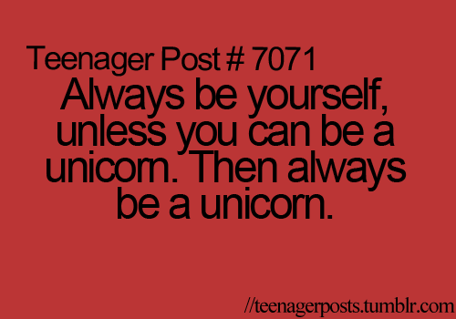 I think I'll be a unicorn!