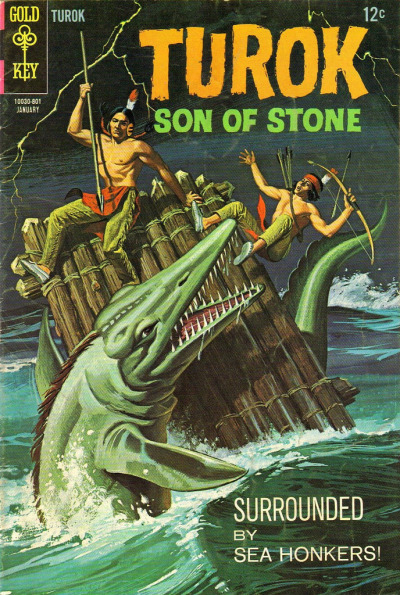 "Gold Key comics - Turok, Son Of Stone No.60 - Jan., 1968 (1020 x 1519)  wikipedia: The page ""Sea honker"" does not exist."