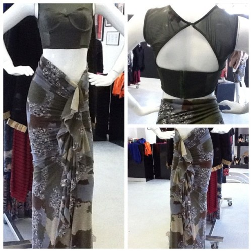 PR Ruffle Maxi $56 and Olive Mesh Crop $28 #philthyragz To place shipping orders please email orders@philthyragz.com. (Taken with Instagram at Philthy Ragz 4840 W. Slauson Ave. Ladera Heights, CA 90056 )