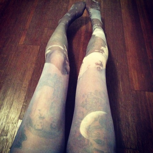 Mountains and the moon tights. Thank you #urbanoutfitters for making the best stuff🌛 (Taken with Instagram)