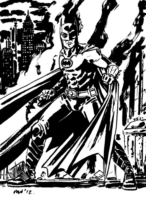 Michael Keaton Batman pre-NYCC commission. Still have a few slots open for pre-NYCC commissions so feel free to email me if interested. m.elson.walsh@gmail.com