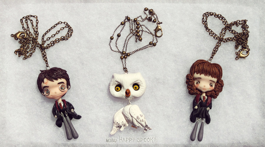 Little polymer clay charcters. (via Harry Potter set by ~NobuHappySpooky)