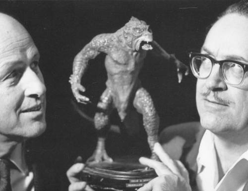 Forrest J. Ackerman and Ray Harryhausen