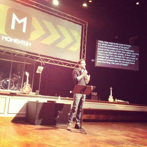 Johnny is preaching so well!! Prepare for video!! (Taken with Instagram)