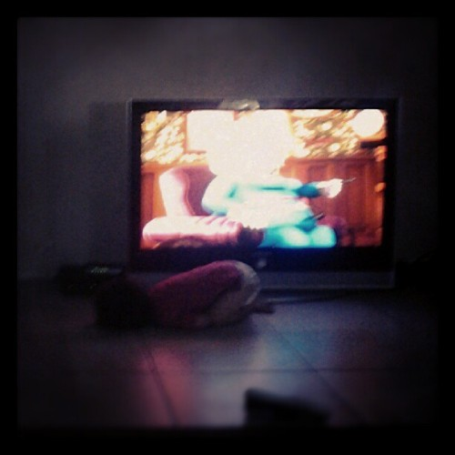 Haha straight up fell asleep infront of the tv c: (Taken with Instagram)