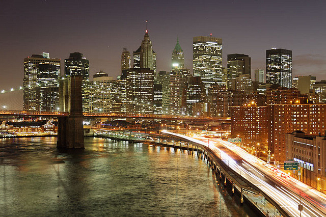 | ♕ |  Bright Lights Big City - NYC nightscape  | by © doubay