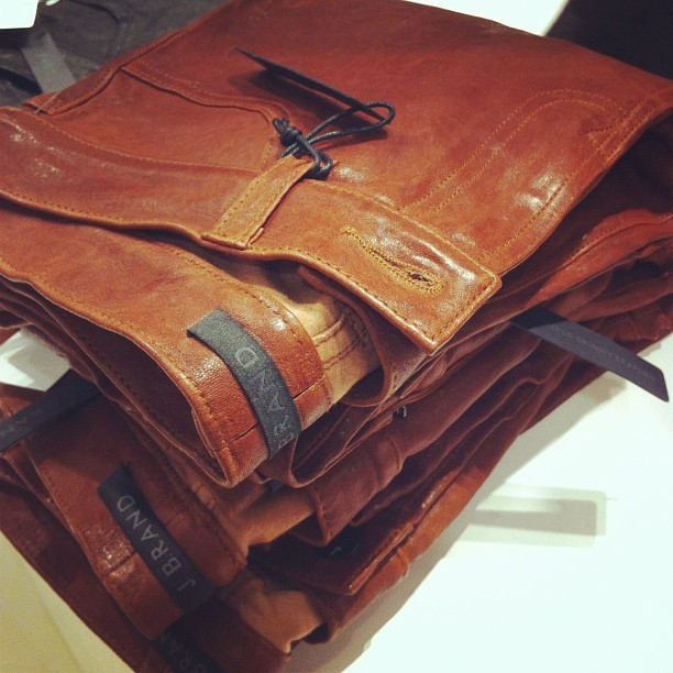 elle:  The latest @JBrandJeans to obsess over: leather #jbrandatsaks (Taken with Instagram)