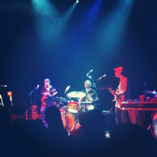The boys Unknown Mortal Orchestra opening up the evening (Taken with Instagram at 9:30 Club)