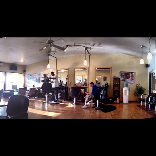 Chilling in the barbershop (Taken with Instagram)