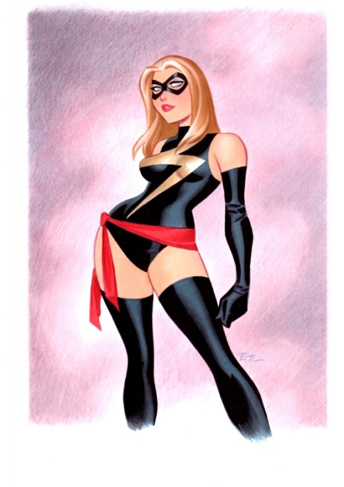keaneoncomics:  Ms. Marvel by Bruce Timm.