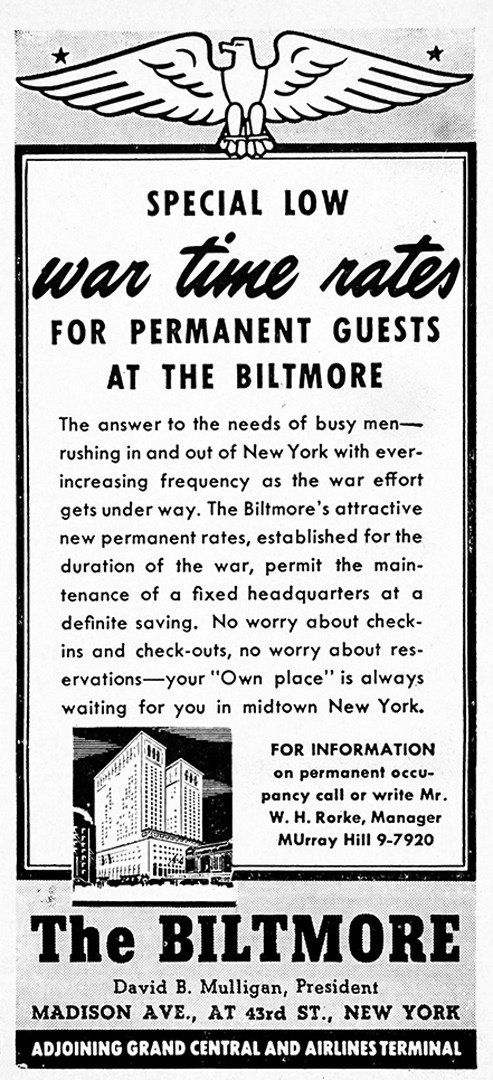 The Biltmore Advertisement - Gourmet: September 1942