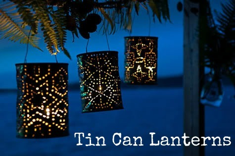 tin punched lanterns.. super cute.. they would look dazzling at an outdoor wedding!