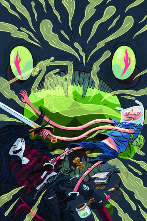 Alternate cover for Adventure Time #11 by OOSA artist Logan Faerber for BOOM! Studios. Look for it on the shelves this December.