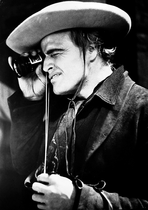 terrysmalloy:  Marlon Brando on set of One-Eyed Jacks, 1958