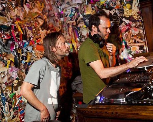 Like kids…Thom Yorke & Nigel Godrich