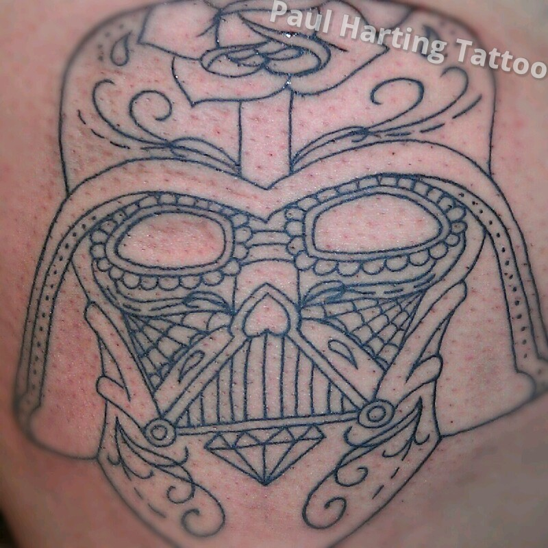darth vader sugar skull, first sit