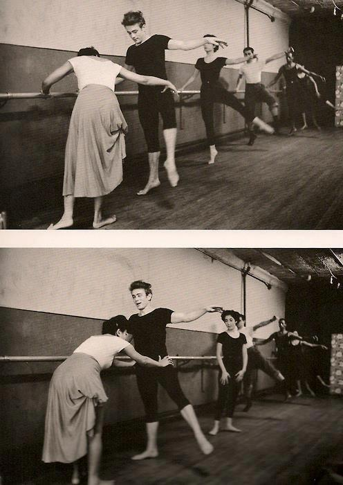 apocalypsedreamz:  Eartha Kitt teaching James Dean ballet in the 50s.