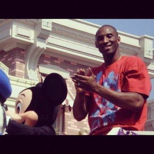 @itskobebryant at Disneyland!! 🏀🏆 #lakers #disneyland #tbt (Taken with Instagram)