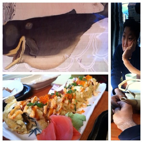 #sad #city #happy #whale #sushi #treat #foodporn #slitscan #diptic #sustainable #seafood #dinner #date (Taken with Instagram at Kaka Udon Kitchen)