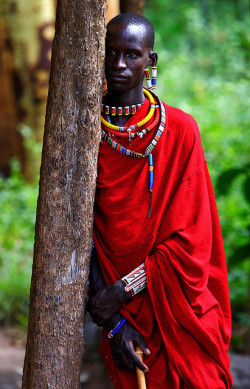 The Silent Masai by | HD | on Flickr.