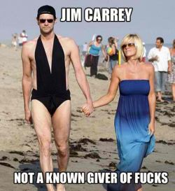 oh Jim! His wife is brave lol