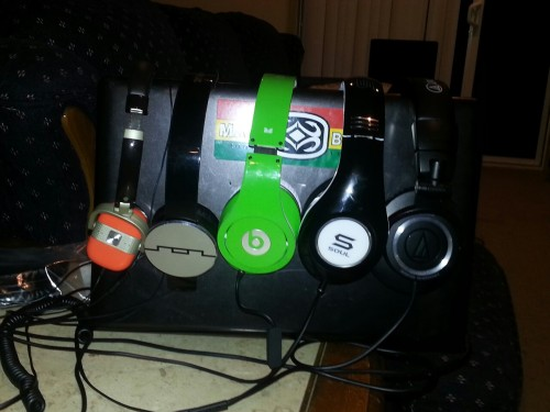 Here's my headphone collection so far. Without my iem's.