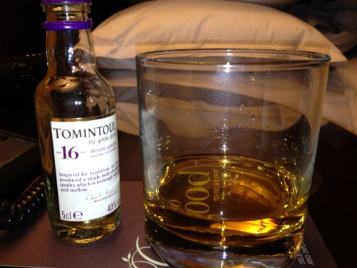 Tomintoul 16 Notes:  Nose: lots and lots of vanilla, with a little malt.  Maybe citrus. Palate: Thin with some nutmeg and vanilla (obviously) Overall: Pretty one note and not complex.  If I wanted to drink Glenlivet 12 with a drop of vanilla extract, I would have done so.   -StrongLikeCask