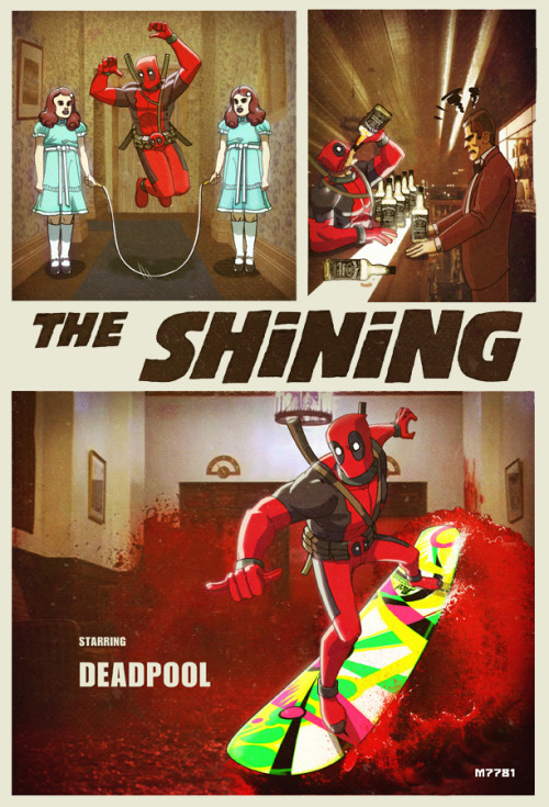 The Shining: starring Deadpool Created by M7781 Website || deviantART || Tumblr
