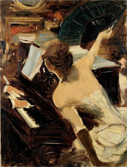 Giovanni Boldini, The Mondona Singer, 1884.