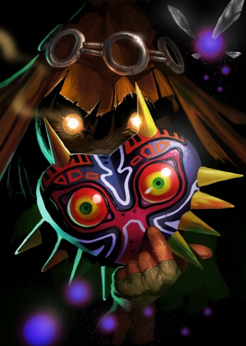 benrogerswpg:  Majoras Mask, Skullkid, Legend of Zelda Fan Art http://bit.ly/RFT4ke