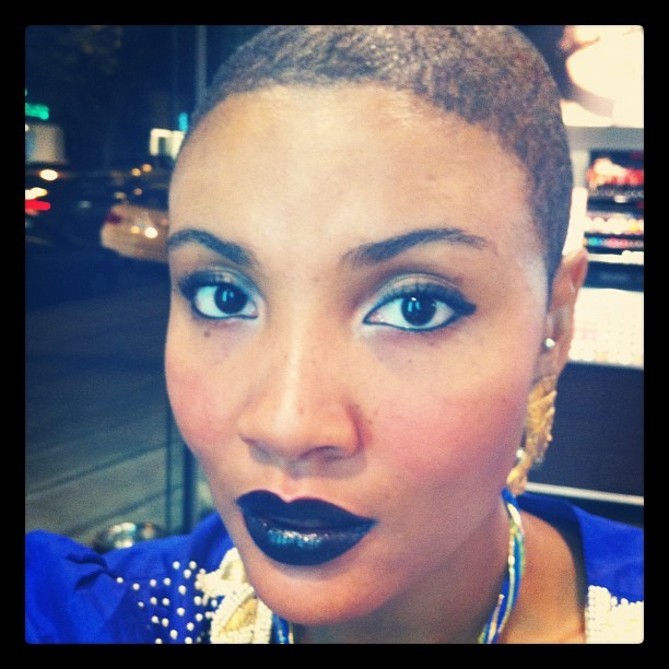 urbanvintageme:  Thinking about going black for fall - I kinda love it! #makeup #makeupforever #lips #black #fall #ferriss (Taken with Instagram at MAKE UP FOR EVER)