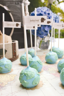 (Cuter than Starbucks) Globe Cake Pops