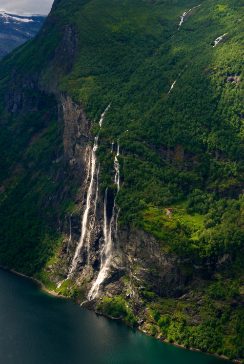"archenland:  ""Seven sisters"" waterfall - Geiranger, Norway (by Bergen64)"