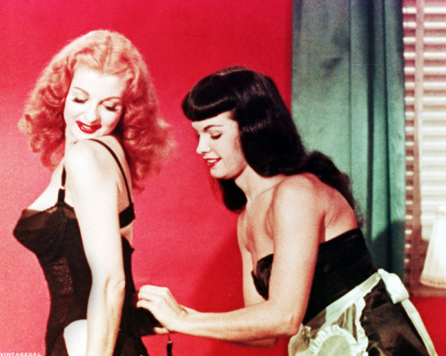 Bettie Page and Tempest Storm in Teaserama (1955)