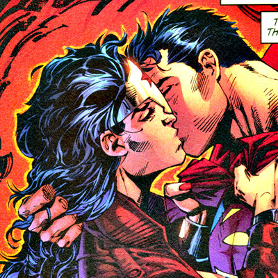 Wonder woman Kisses Superman  By:Jim Lee