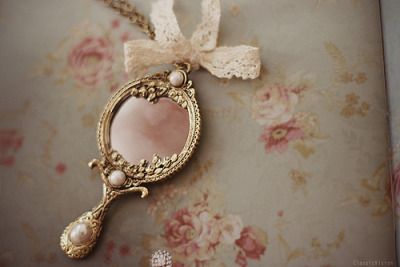 Mirror necklace.