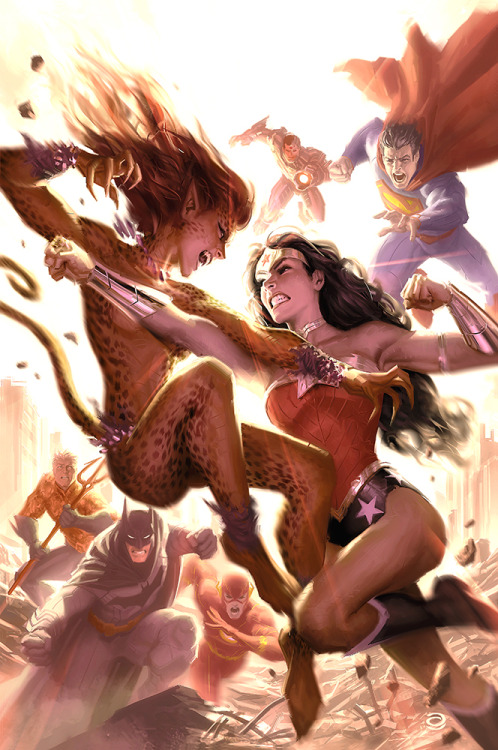 "The Justice League // artwork by Alex Garner (2012) Cover art for the upcoming ""Justice League #13"""