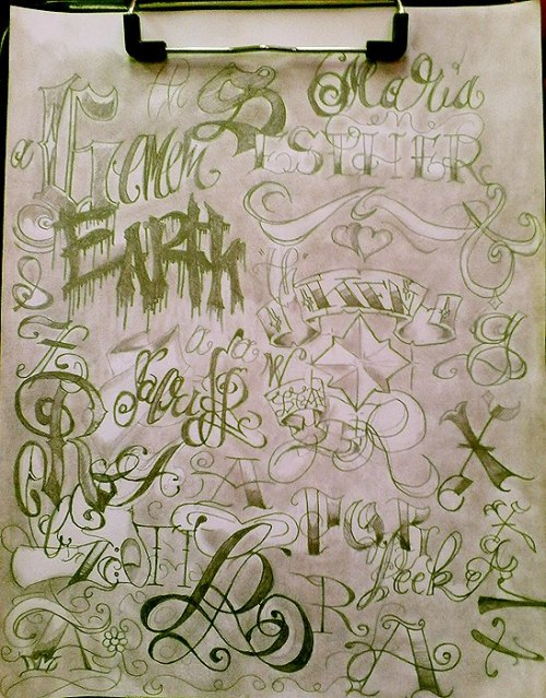 artistcompilation:  leave me with calligraphy books for a few hours and..