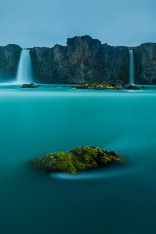 Waterfall of the Gods, Iceland photo via nationalgeo