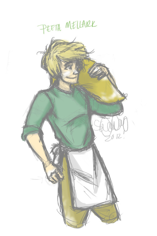 beeswaxy:  A little sketch of Peeta from my livestream. I don't have a life. I just will randomly draw fan art of things.