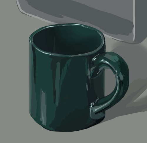 malloryhartart:  I drew a mug guys.  I spent about an hour on it.    Here's a still life I did tonight.