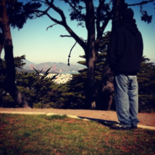 Do you see what I see? #goldengatebridge #sanfranciso #SF (Taken with Instagram at Buena Vista Park Summit)