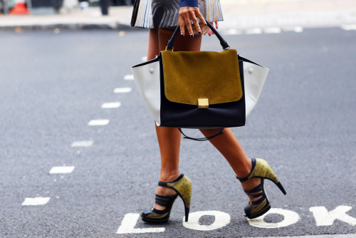 Celine bag, Jason Wu heels [source:vogue]