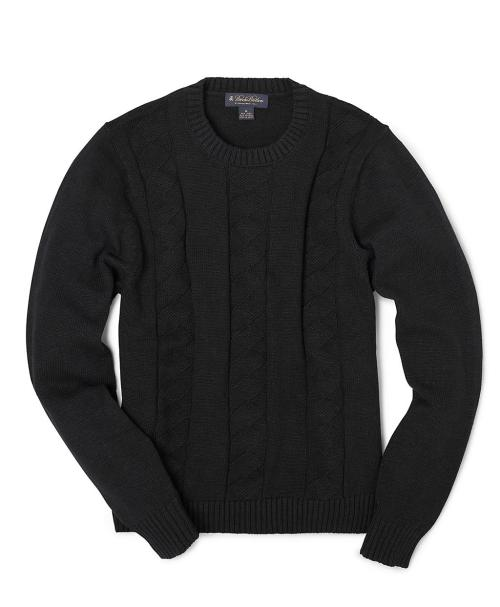 Linen-Cotton Cable Crewneck Sweater - $48 (from $128) at Brooks Brothers Use promo code FNFBB1 for 25% off. Brooks Brothers' Friends & Family Sale starts today, with their pretty standard 25% discount. What's not standard is that at the time of writing, it also seems to apply to sale items, which I'm pretty sure are usually excluded. I picked up this linen-cotton blend cable crewneck sweater—oddly, my first true navy sweater. Linen and linen-cotton blend sweaters have a paradoxically chunky yet lightweight feel. With the right weave, they're perfect for early fall and early spring, running warm when it's cool out and cool when it's warm out. Sounds perfect for right about now.