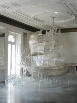 highpriestessice:  yellowbrutalmartyr:  rosettes:  Ice ship sculpture created by set designer and art director Rhea Thierstein | Shot by Tim Walker  This is STUPENDOUS.  Holy crap.