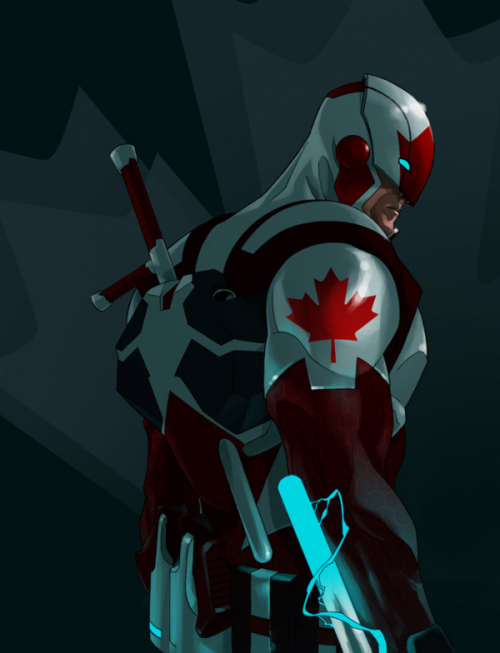 Check out this bad-ass superhero redesign for Captain Canuck by Kalman Andrasofszky. (via Project Rooftop - P:R Approved: Kalman Andrasofszky's Captain Canuck!)