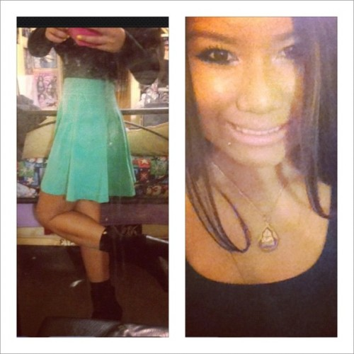 #BIGSMILE #OOTD #Marissasday #DINNER #BLACKNTURQUOISE (Taken with Instagram)